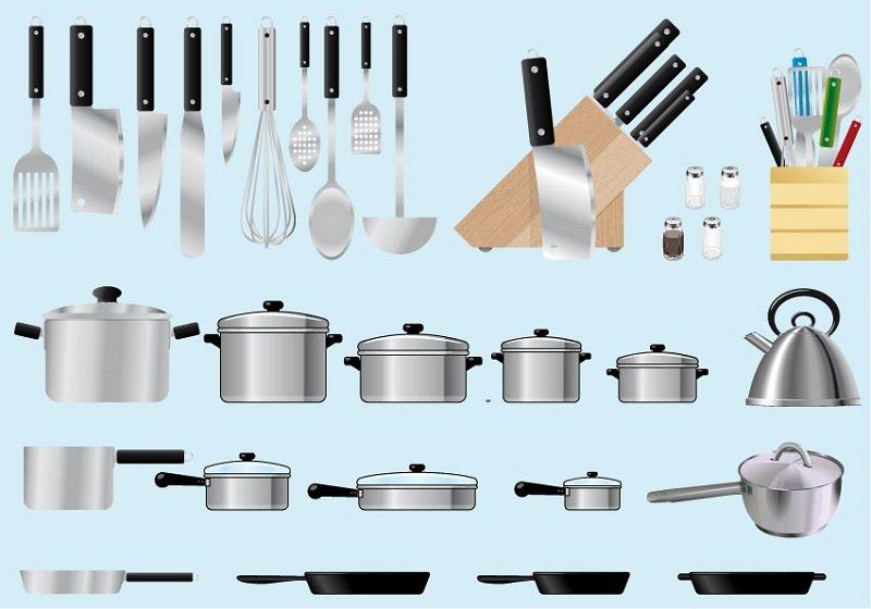 strumenti da cucina gli utensili per un set basic