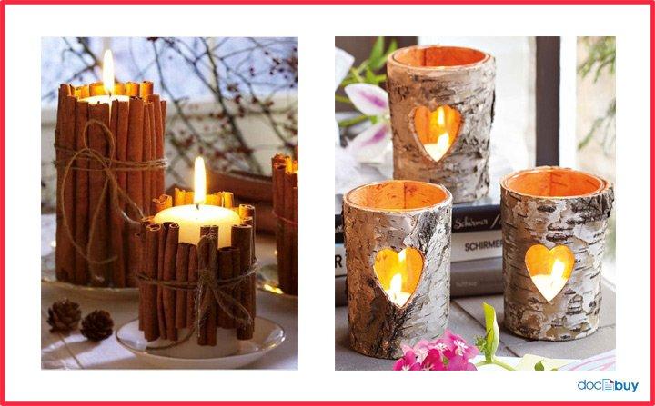 candele profumate in contenitori particolari