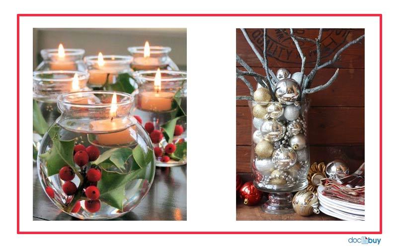 decorazioni natalizie centrotavola originale