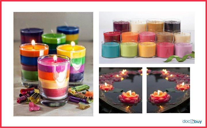 candele profumate e colorate