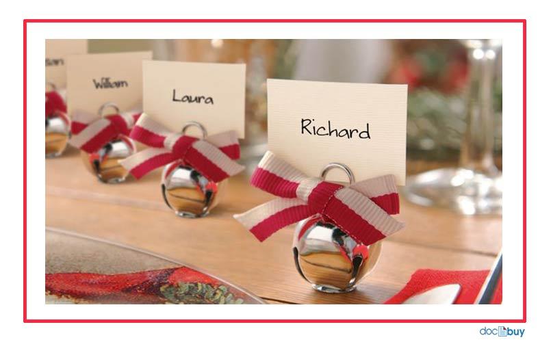 decorazioni natalizie segnaposto pallina