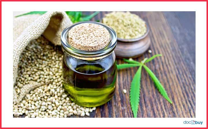 pianta di canapa olio di canapa