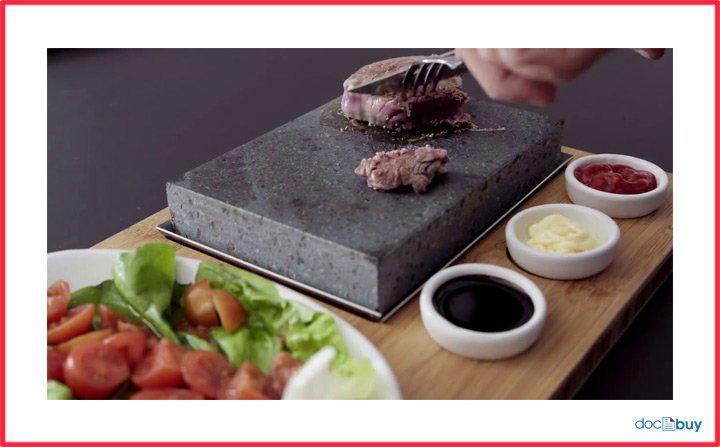 bistecchiera antiaderente cucinare con pietra lavica