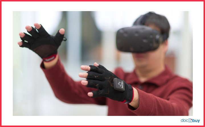 visore vr realtà virtuale guanti