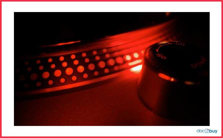 luce stroboscopica del piatto technics 1200