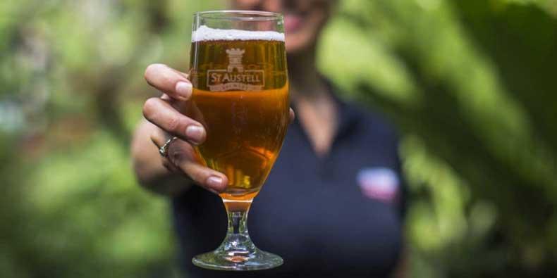 Una calice di birra